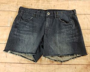 Madewell Dark Wash Distressed Cutoff Jean Shorts